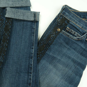 Current Elliot Rolled Skinny Lace Jeans 24x31